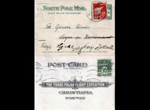Norwegen/Dänemark/US 1925, Amundsen Trans Polar Flight Expedition Karte