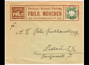 Bayern 1900, 5 Pf. auf Firmen Brief v. München n. Zittau