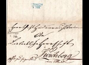Österreich 1844, L2 SCHREMS klar auf Brief n. Kirchberg am Walde
