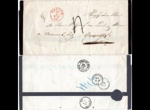 NL 1863, gesiegelter Trauerbrief v. ARNHEM n. Antwerpen, Nachsendung n. Brüssel