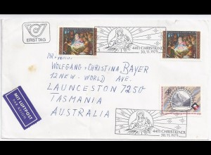 Österreich Christkindl 1979, Luftpost Brief n. Australien. Destination! #465