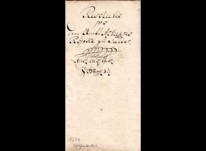 Braunschweig 1779, Resolutio-Schnörkelbrief v. Wolfenbüttel n. Salder