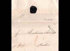 Oldenburg 1825, L1 RASTEDE auf Brief n. Norden m. Vermerk fco. Wittmund