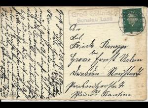 DR 1931, Landpost Stpl. Groß Gollnisch Bunzlau Land auf Karte m. 6 Pf. #2229