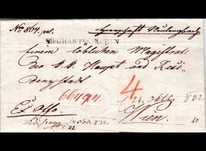 Österreich 1832, L1 SIEGHARTSKIRCHEN klar auf Brief v. Neulengbach n. Wien