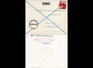 Generalgouvernement 1943, 24 Pf. auf Dienstpost des Generalgouverneurs v. Krakau