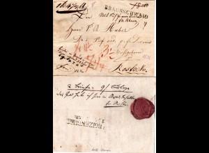 1832, L1 BRAUNSCHWEIG auf Paket Begleit Schein n. Rostock, Mecklenburg Schwerin