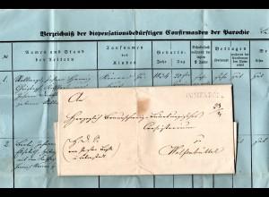 Braunschweig 1848, L1 IMMENDORF auf Brief m. mehrseitigem Inhalt n. Wolfenbüttel