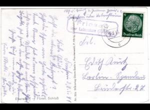 DR 1936, SAASA über Eisenberg, Landpost Stpl. auf Karte m. 6 Pf.