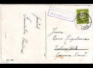 DR 1932, NEPPERWITZ Wurzen Land, Landpost Stpl. auf Karte m. 6 Pf.
