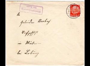 DR 1933, Landpost Stpl. KLEINWUSTERWITZ über Genthin auf Brief m. 12 Pf.