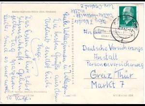 DDR 1962, Landpost Stpl. KÄTHE-KOLLWITZ-HÜTTE über Oschatz auf AK m. 10 Pf.