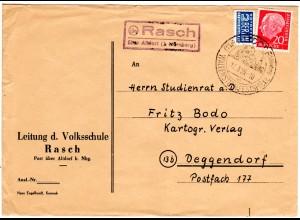 BRD 1955, Landpost Stpl. 13a RASCH über Altdorf (b. Nürnberg) auf Brief m. 20 Pf