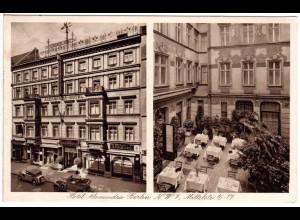 Berlin, Hotel Alexandra m. Oldtimern, 1938 n. Schweden gebr. sw-AK