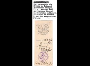 Bayern 1914, HAIDENBURG i.NBY. R, Reservestempel auf Postanweisungs-Quittung