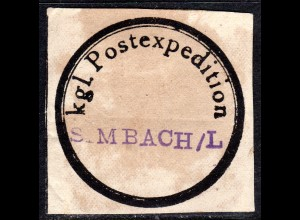Bayern, Postsiegel Kgl. Postexpedition SIMBACH/L (Simbach bei Landshut).