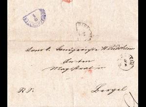 Bayern 1873, kl. Einkreiser WINDSHEIM (Type I) auf Brief n. Bergel