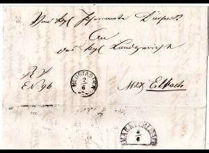 Bayern 1868, Zierstempel NEUSTADT a/A. auf Brief n. Markt Erlbach