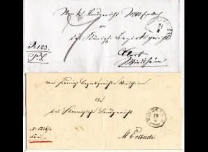 Bayern, kl. Einkreiser WINDSHEIM (Type III) auf doppelt verwendetem Brief