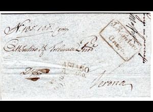 Lombardei & Venetien 1840, L2 ASIAGO auf Brief n. Verona.