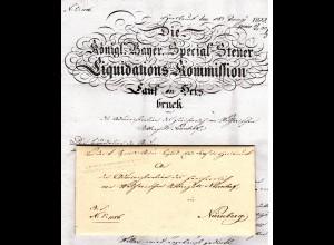 Bayern 1833, L1 ALTSITTENBACH auf Brief v. Hersbruck n. Nürnberg.