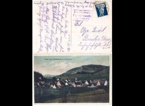 Bayern 1920, Posthilfstelle FÖRRENBACH Taxe Happurg auf Gruss aus Farb-AK
