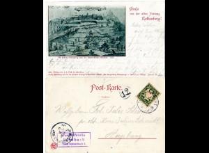 Bayern 1900, Posthilfstelle KERSBACH Taxe Schnaittach 1. auf Gruss aus sw-AK