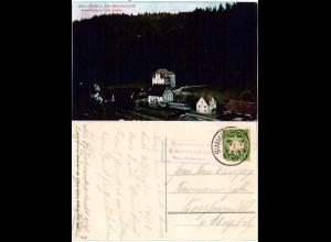 Unter-Achtel b. Stat. Simmelsdorf, 1910 m. Posthilfstellen Stpl. gebr. Farb-AK