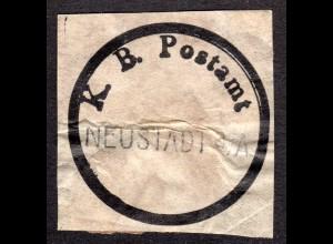 Bayern, eingestempeltes Postsiegel K.B. Postamt NEUSTADT a/A.
