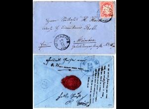 Bayern, Zierstempel NEUSTADT a/A. auf kl. Brief m. 3 Kr.
