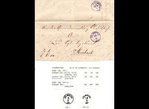 Bayern 1872, violetter Zierstempel COLMBERG klar auf Brief n. Ansbach. Geprüft.