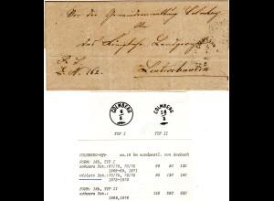 Bayern 1877, Zierstempel COLMBERG, Sondertype ohne Kreis auf Gemeinde Brief