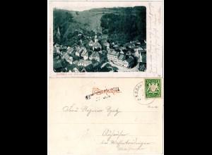 Bayern 1902, L2-Aushilfstpl. WASSERTRÜDINGEN als Ank.Stpl. auf AK v. Berneck
