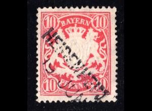 Bayern, Aushilfsstempel L2 HEIDENHEIM klar auf 10 Pf. rot.