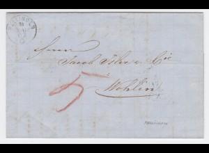 Schweiz 1869, Mellingen Fingerhut Stpl. auf Porto Brief n. Wohlen. #2467