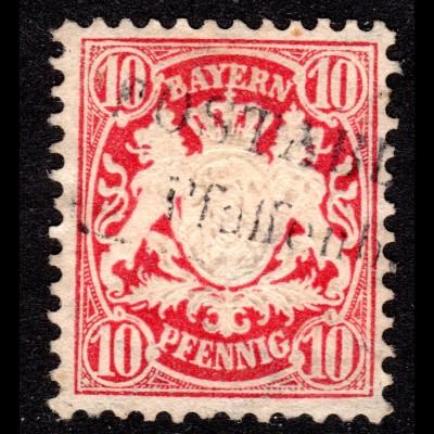Bayern, L2 POSTABLAGE PFAFFENBERG auf 10 Pf.
