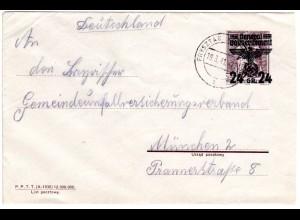 Generalgouvernement 1941, sauber gebr. 24/25 Gr. Ganzsachenumschlag