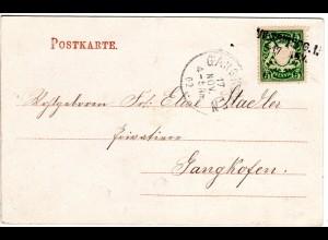 Bayern 1902, L2-Aushilfstpl. VILSBIBURG I. klar auf Karte m. 5 Pf.