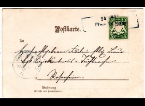 Bayern 1901, L2-Aushilfstpl. PFARRKIRCHEN auf Karte m. 5 Pf.