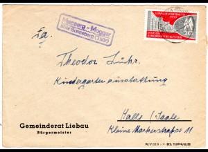 DDR 1959, Landpost Stpl. MUPPERG-MOGGER über Sonneberg auf Brief m. 20 Pf.