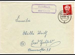 DDR 1953, Landpost Stpl. HOHNBACH über Colditz auf Brief m. 24 Pf.