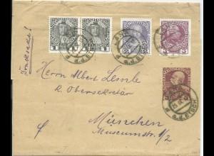 Österreich 1912, Lana a.d. Etsch, 3 H. Ganzsache Streifband m. Zusatzfrank. #965