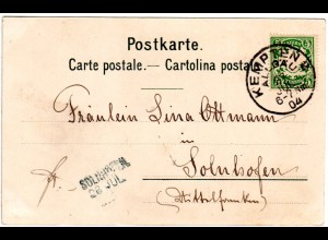 Bayern 1904, L2-Aushilfstpl. SOLNHOFEN als Ank.Stpl. auf Karte v. Kempten 2