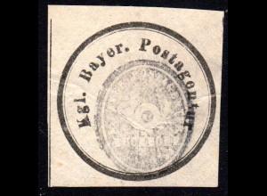 Bayern, BUCHDORF, Postamts Negativ-Siegel-Stempel auf Post Verschluss Etikett