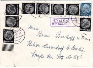 DR 1939, Landpost Stpl. CHRISTDORF über Neustadt auf Brief m. 4+8x1 Pf.