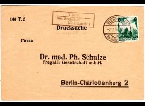 DR 1936, Landpost Stpl. RISTEDT über Beetzendorf auf Karte m. 6 Pf.
