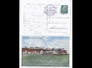 "Helgoland 1934, Farb AK m. ""Auf Hoher See Turbo Dampfer Kaiser"". #1055"