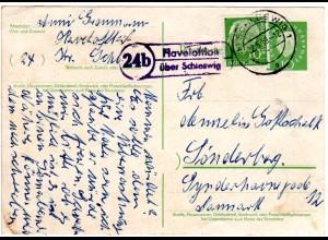 BRD 1959, Landpost Stpl. 24b HAVELOFTLOH üb. Schleswig auf 10 Pf. Ganzsache