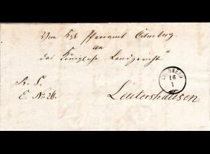 Bayern 1871, Zier-K1 Colmberg sauber auf Brief n. Leutershausen.