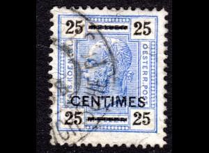 Österreich. Post Kreta 10 B, gest. 25 C./25 H. m. Zähnung 13:12 1/2. Signiert.